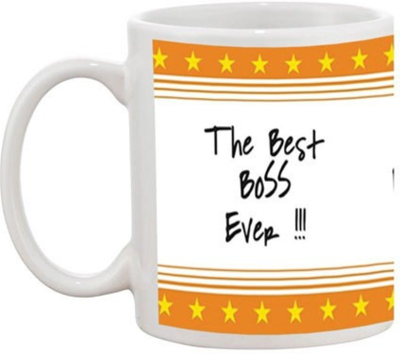 Exciting Lives Best Boss Simple Ceramic Mug(330 ml)