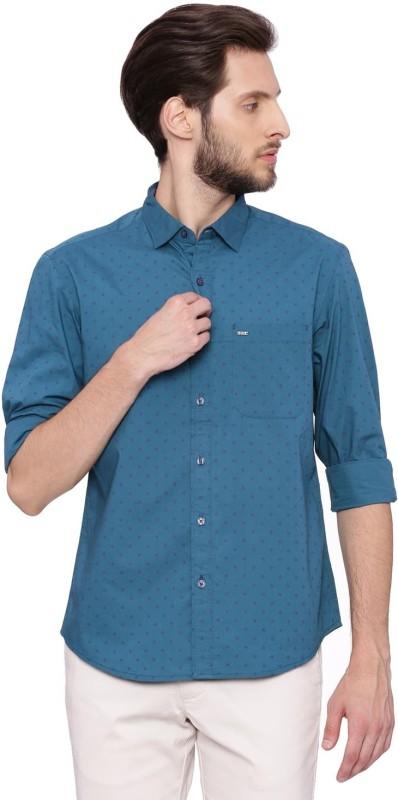 Basics Men Printed Casual Green Shirt