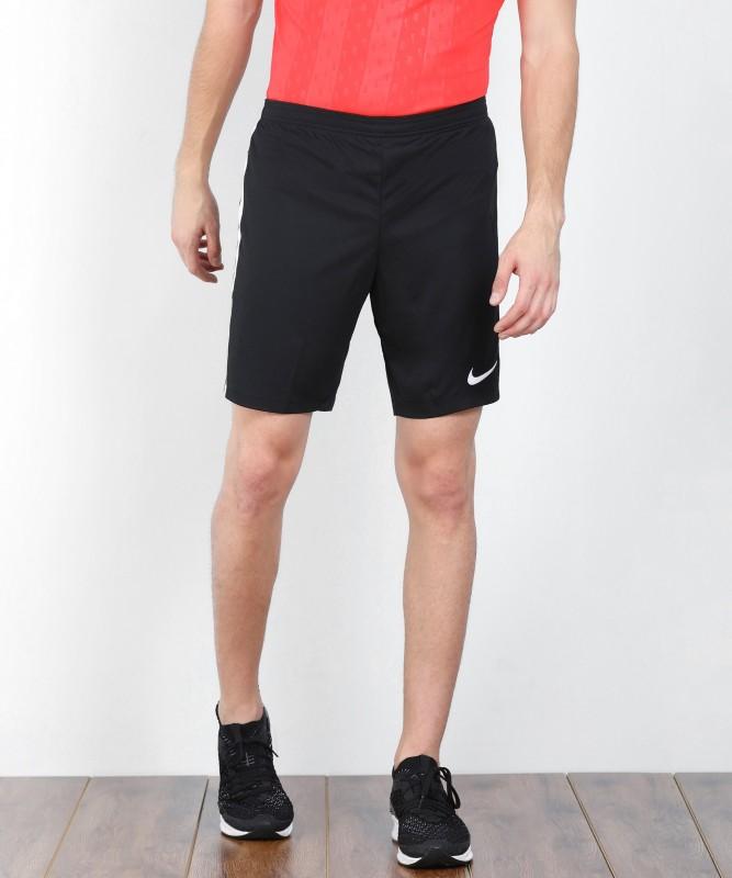 Nike Solid Men's Black Sports Shorts