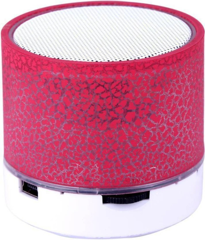 Piqancy Mini Wireless Audio S10 LED Light Enabled Speakers with TF Micro SD Memory Cards Slot FM Radio Aux Cable Functionality Premium High Quality Bluetooth Speaker(Red, 2.1 Channel)