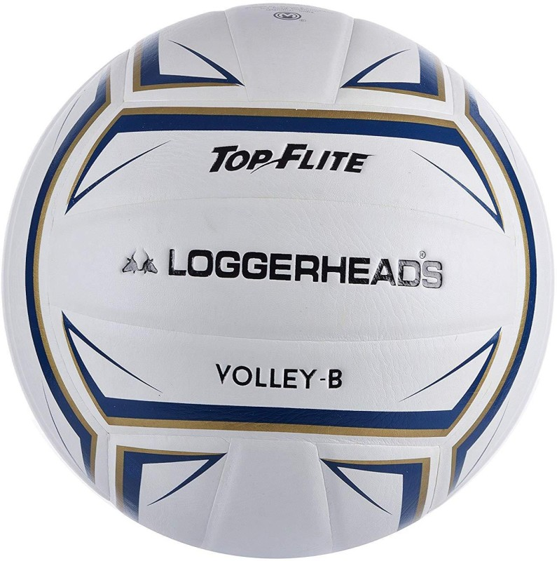 loggerheads Top Flite Volleyball - Size: 4(Pack of 1, White)