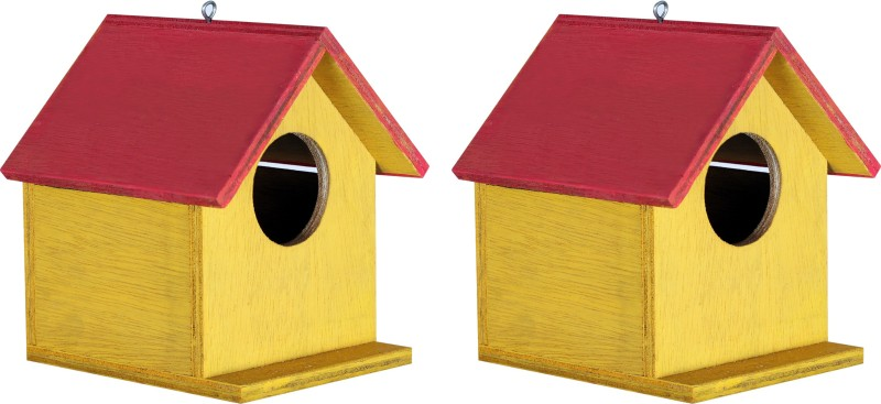 PAXIDAYA BIRD HOUSE NEST BOX 2 PIS Bird House(Hanging, Wall Mounting, Tree Mounting, Free Standing)