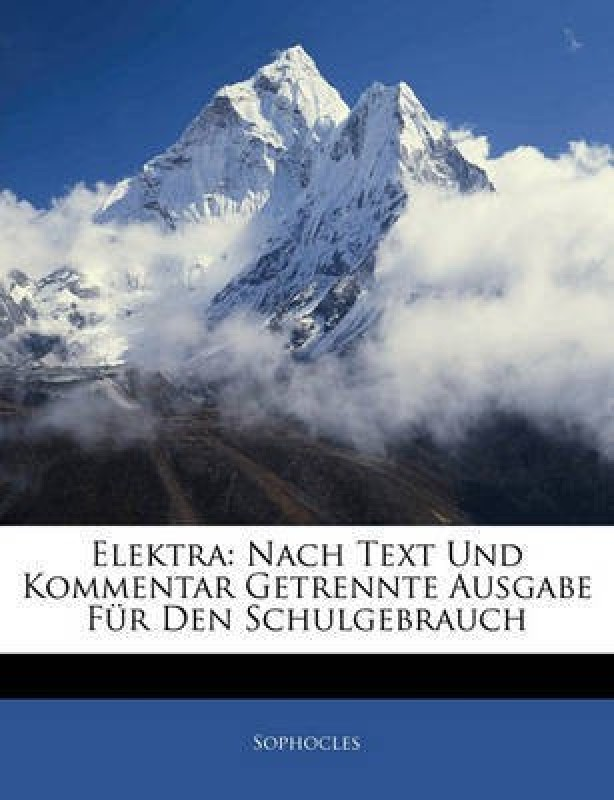 Elektra(English, Paperback / softback, Sophocles)