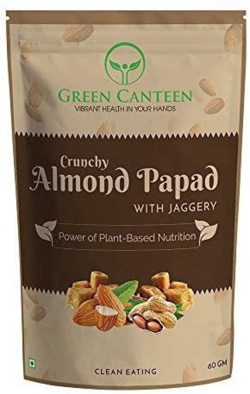 Green Canteen Almond Papad with Jaggery 60gm (No Preservatives, No Added Oil, Gluten Free) 60 g