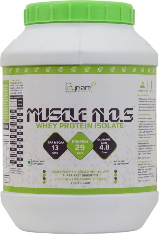 Dynami Nutrition Muscle N.O.S Whey Protein(1000 g, Chocomint)