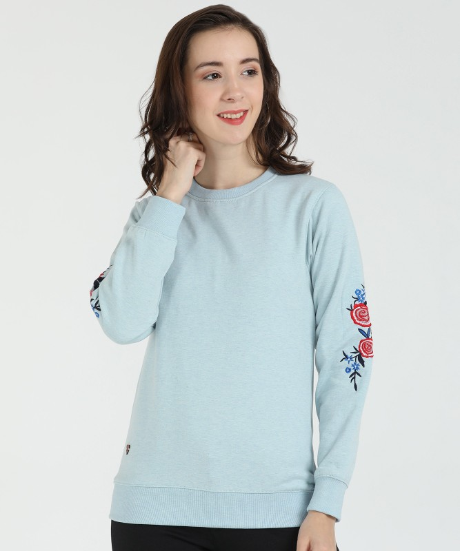 Duke Full Sleeve Solid Women Sweatshirt