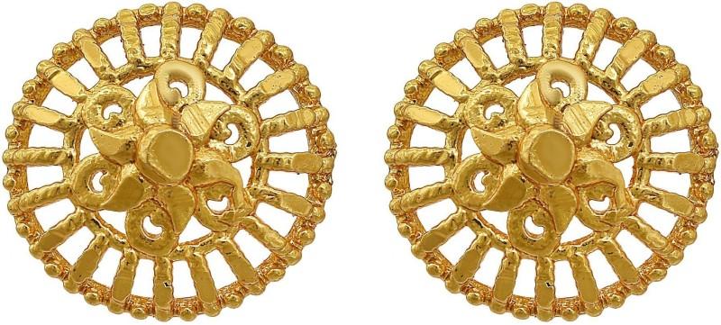 RN Gold Plated 24KT Brass, Traditional Ethnic, Stud Earrings Women Fashion, Latest Design, Jewellery Brass Stud Earring