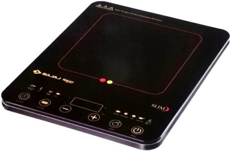 Bajaj 2100 W MAJESTY SLIM HIGH QUALITY INDUCTION OVEN INSTANT HEAT FULLY AUTOMATIC Induction Cooktop(Black, Touch Panel)