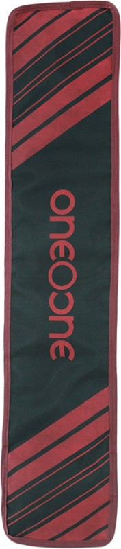 One O One - Lines Collection Single Black + Maroon Print Padded Cricket Kitbag / Full Bat Cover Free Size(Black)