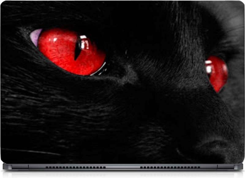 HD Arts Red Eye Cat ECO Vinyl Laptop Decal 15.6