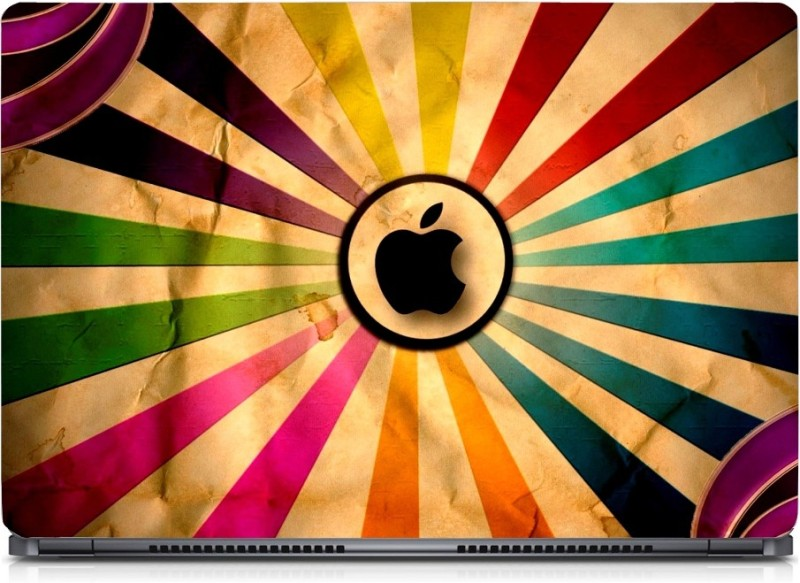 HD Arts Coloured Graphic Black Apple ECO Vinyl Laptop Decal 15.6