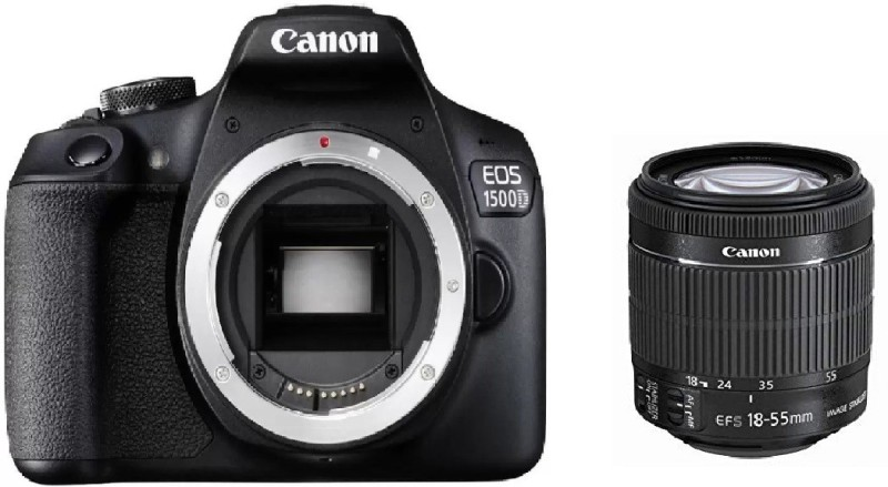 Canon EOS 1500D DSLR Camera Body+ 18-55 mm IS II Lens (16 GB Memory Card & Carry Case)(Black)