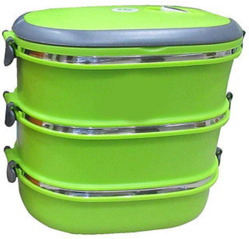 LIFEMUSIC 3 Layer Lunch Box Best in class price and quality 3 Container Insulated Lunch Box Desirable For Office/School/College/Travel Airtight Leak 2100 ml.. 3 Containers Lunch Box(2100 ml)