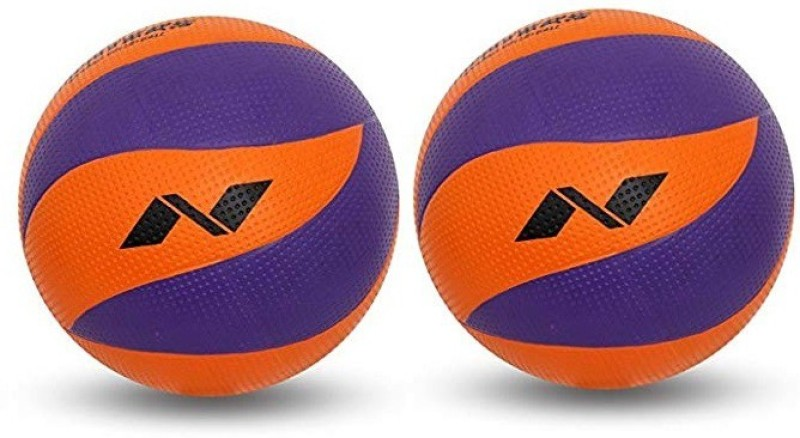 Nivia 'Craters' (Pack of 2) Volleyball - Size: 5(Pack of 2, Multicolor)