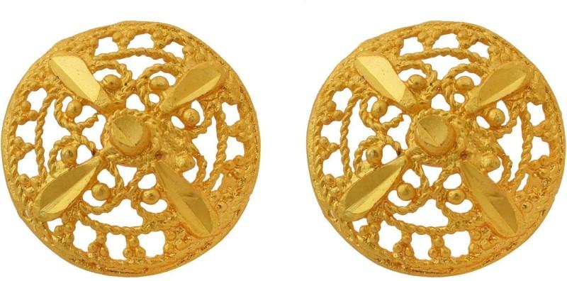 RN 24KT Brass Gold Plated Traditional Ethnic, Stud Earrings Fashion, Lastest Design Jewellery Women Brass Stud Earring