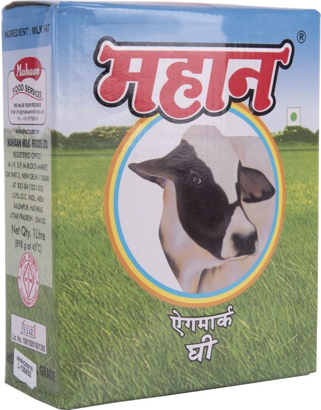 Mahaan Pure Desi Ghee (Agmark Certified) 1 L Carton