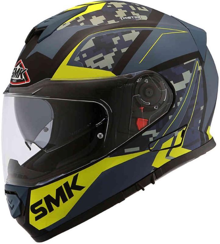 Studds Twister Zest Motorbike Helmet(Fluo, Black, Matt, Green)