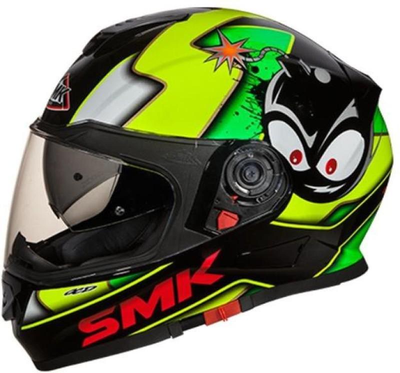 Studds Twister Attack Motorbike Helmet(Fluo, Black, Glossy)
