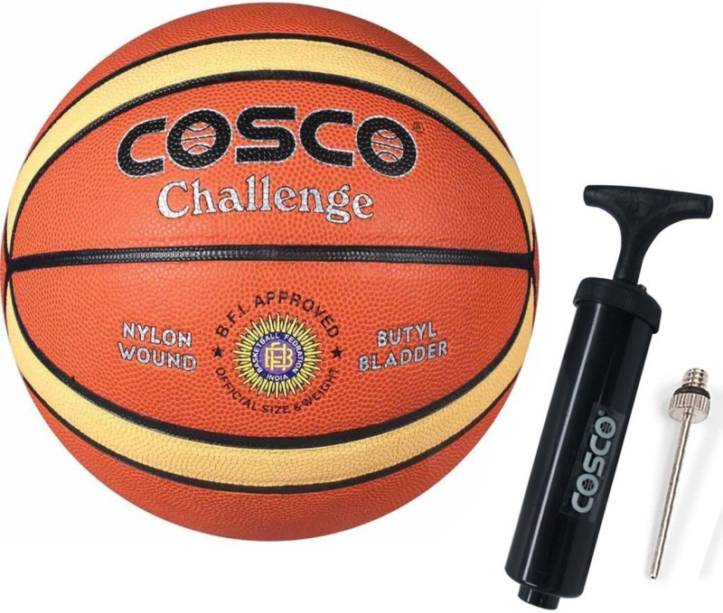 Cosco Challenge Basketball ( Size- 5) With Basketball Pump Basketball Kit