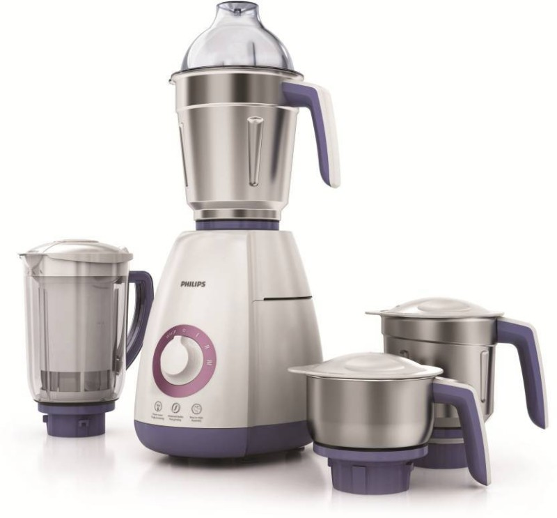 Philips HL 7701/00 750 Juicer Mixer Grinder(Purple, White, 4 Jars)