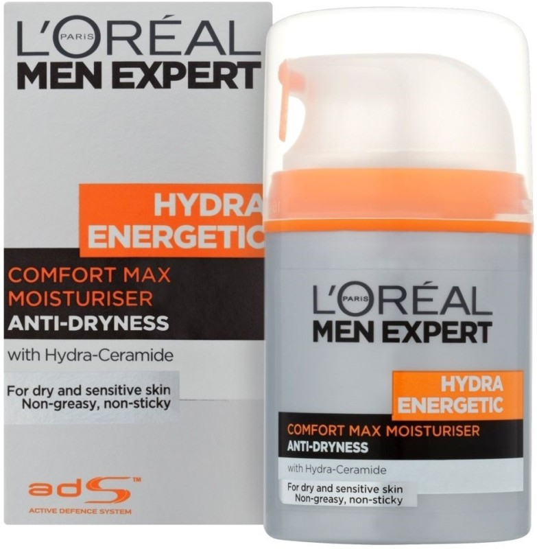 L'Oreal Men Expert Hydra Energetic Comfort Max Moisturiser For Anti-Dryness(50 ml)