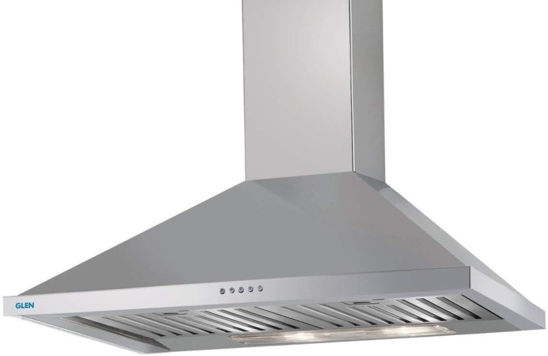 GLEN Cooker Hood 6054 SS 90cm 1250m3 BF-LTW Wall and Ceiling Mounted Chimney(STEEL 1000)