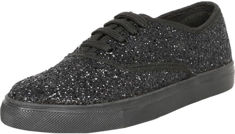 People People Black Casual Shoes Sneakers For Women(Black)
