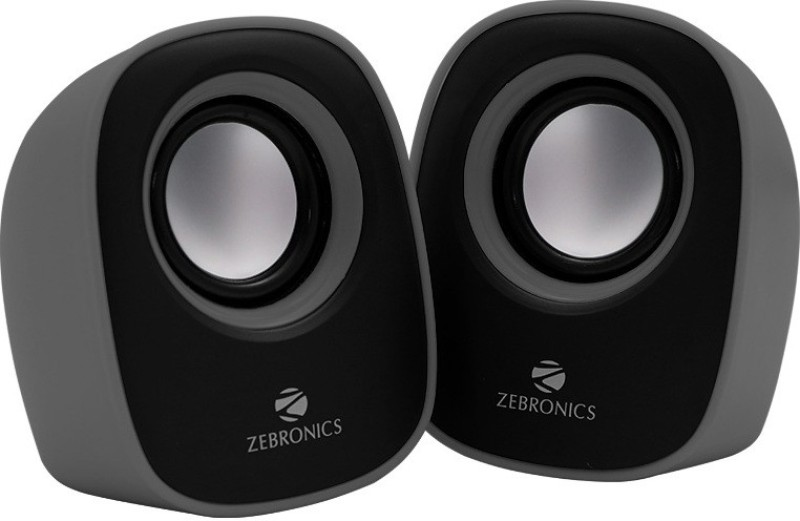 Zebronics Pebble2 Laptop/Desktop Speaker(Grey, 2.0 Channel)