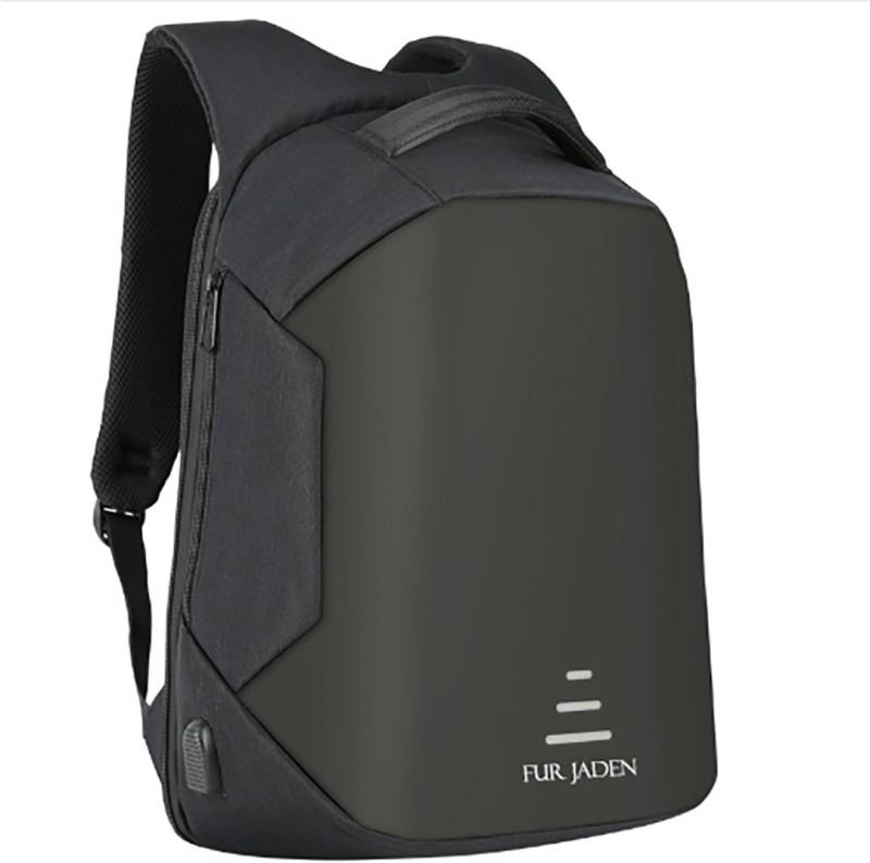 Fur Jaden Black 20L Anti Theft Backpack 20.0 Backpack(Black)