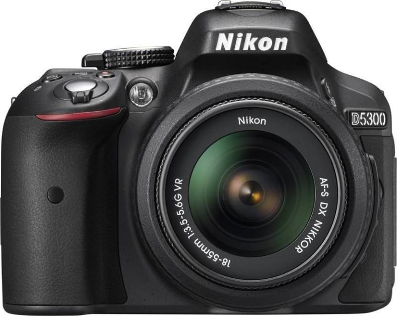 Nikon D5300 D5300 WITH 18-55 LENS DSLR Camera AF-P DX NIKKOR 18 - 55 mm f/3.5 - 5.6G VR(Black)