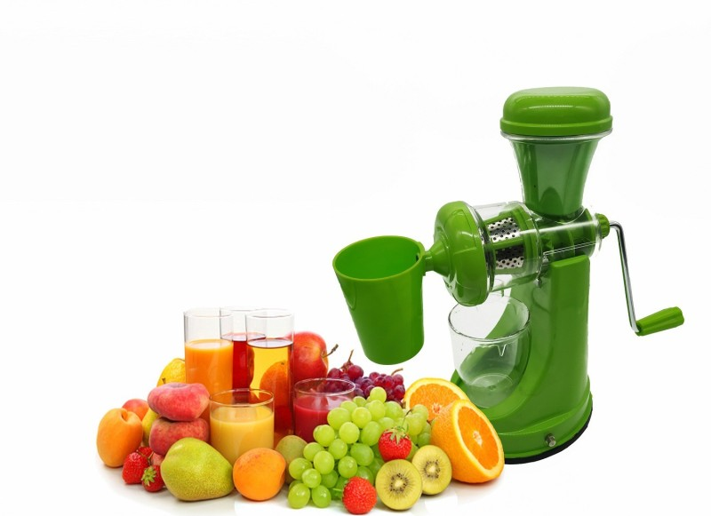 Alpyog Fruits and Vegetable Orange Juicer with Steel Handle and Waste Cup 0 Juicer(Green, 1 Jar)