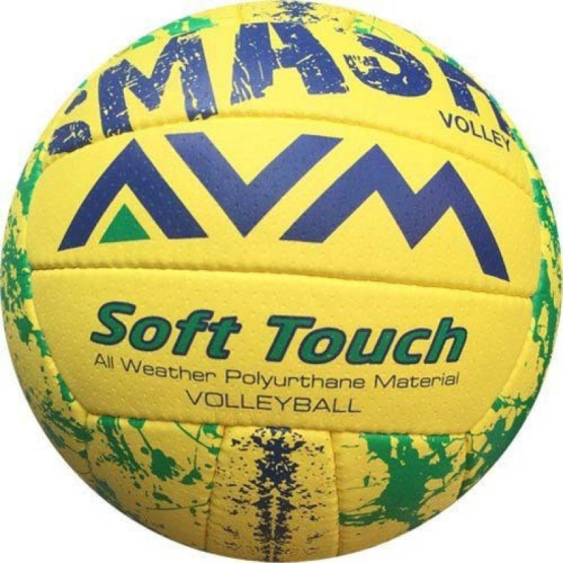 AVM Smash Volleyball - Size: 5(Pack of 1, Yellow)
