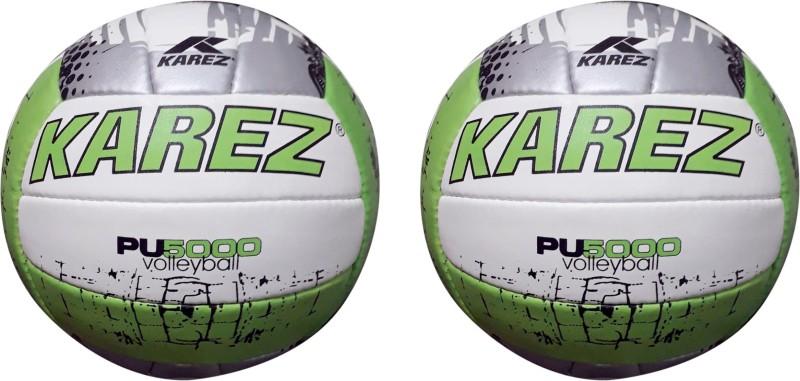 Karez PU5000 Volleyball - Size: 4(Pack of 2, Green)