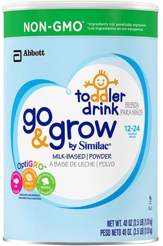 Similac Go & Grow Toddler Drink Stage 3 (Non-GMO) - 1.13Kg (40oz) (USA)(1130 g, 12+ Months)