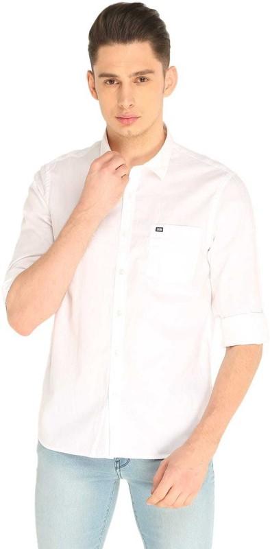 Arrow Sport Men Solid Casual White Shirt