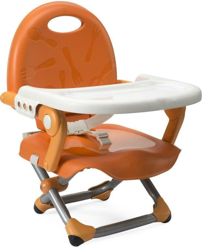 Zahuu Booster Seat High Chair Foldable Detachable Tray(Orange)