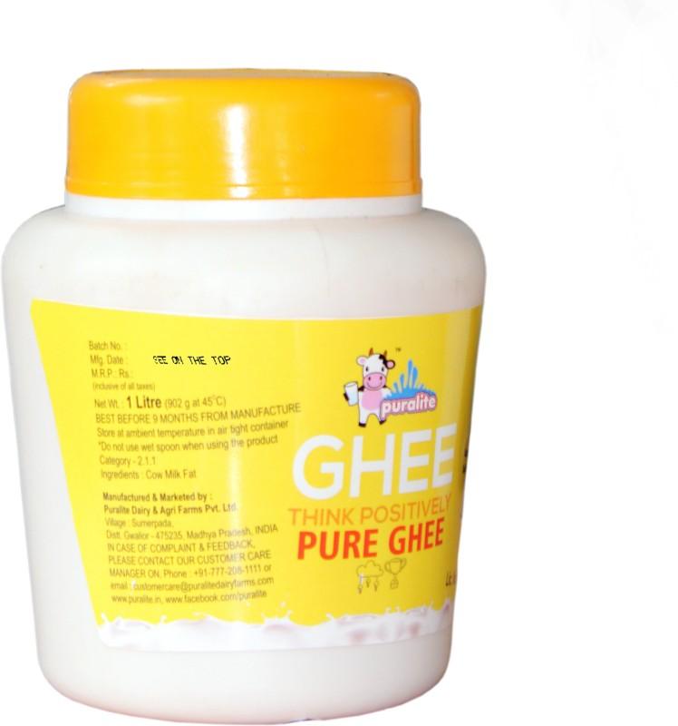 Puralite Cow Ghee 1 L Plastic Bottle