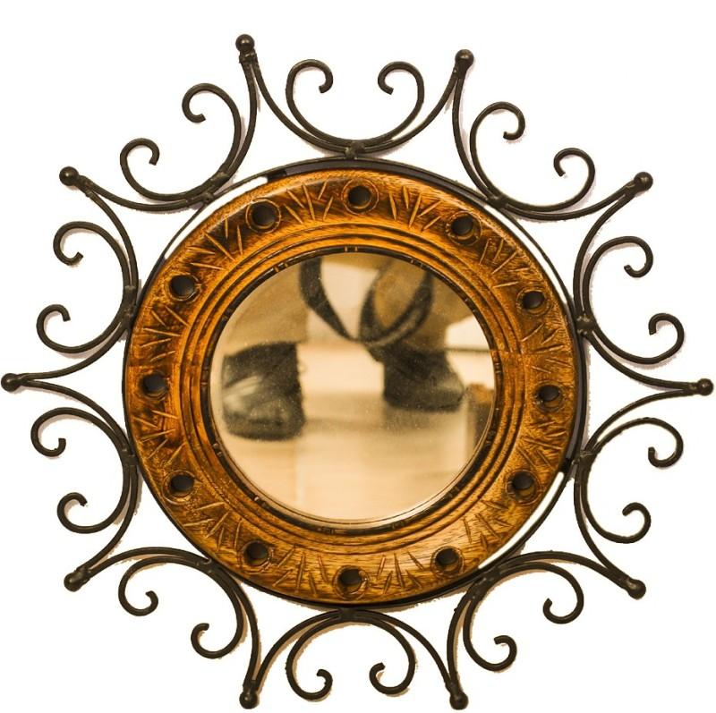 Phirkcraft 0301 Decorative Mirror(Round Finish : Matte)