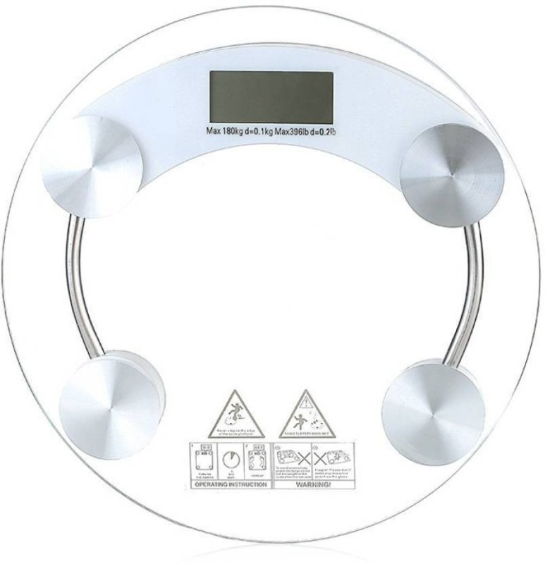 INDOSON indoson_glass scale Weighing Scale(White)