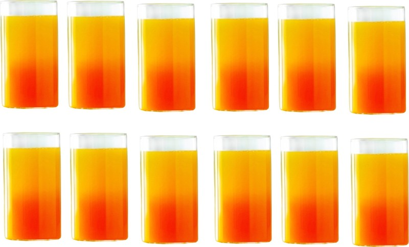 Borosil Combo of Vision Medium Size Glasses, 295 ml, Set of 6 Glass Set(Glass, 330 ml, Clear, Pack of 2)