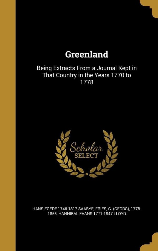 Greenland(English, Hardback, Saabye Hans Egede 1746-1817)