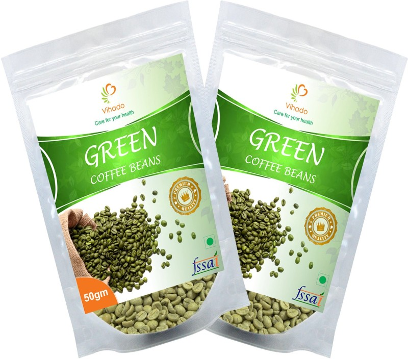 Vihado 100 Organic Green Coffee Beans Pure Natural 2 Packet