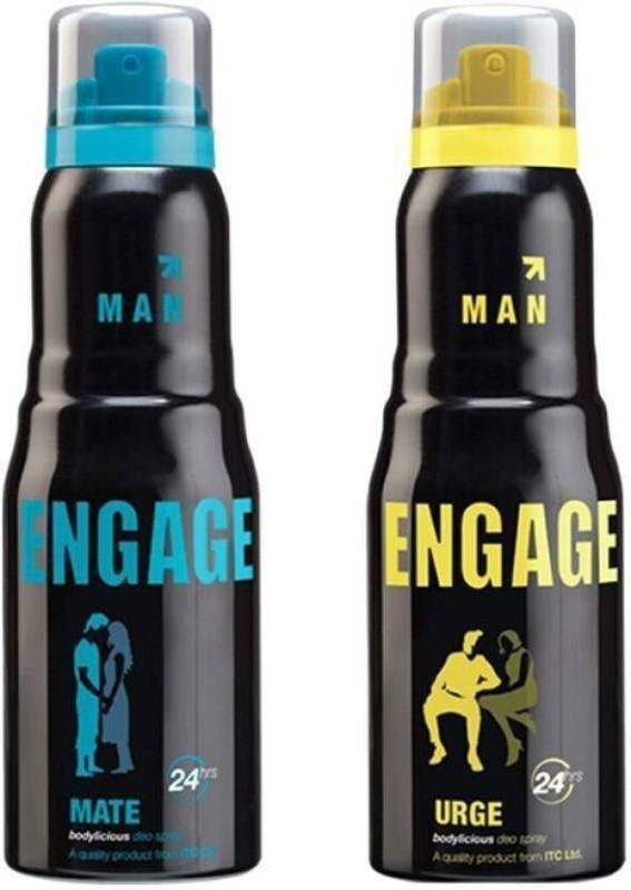 Engage Mate & Urge Deodorant Spray  -  For Men(330 ml, Pack of 2)