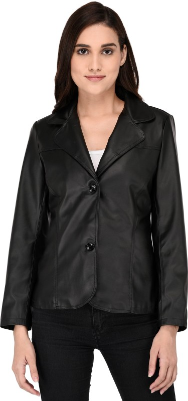 peppyhub Solid Single Breasted Party Women Blazer(Black)
