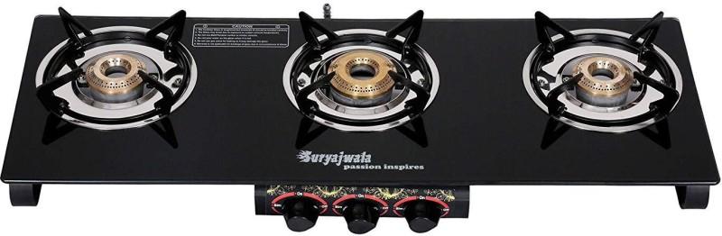Suryajwala Steel Manual Gas Stove(3 Burners)