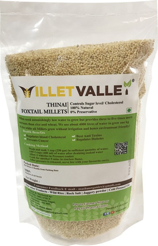millet valley THINAI UNPOLISHED Foxtail Millet(800 g)