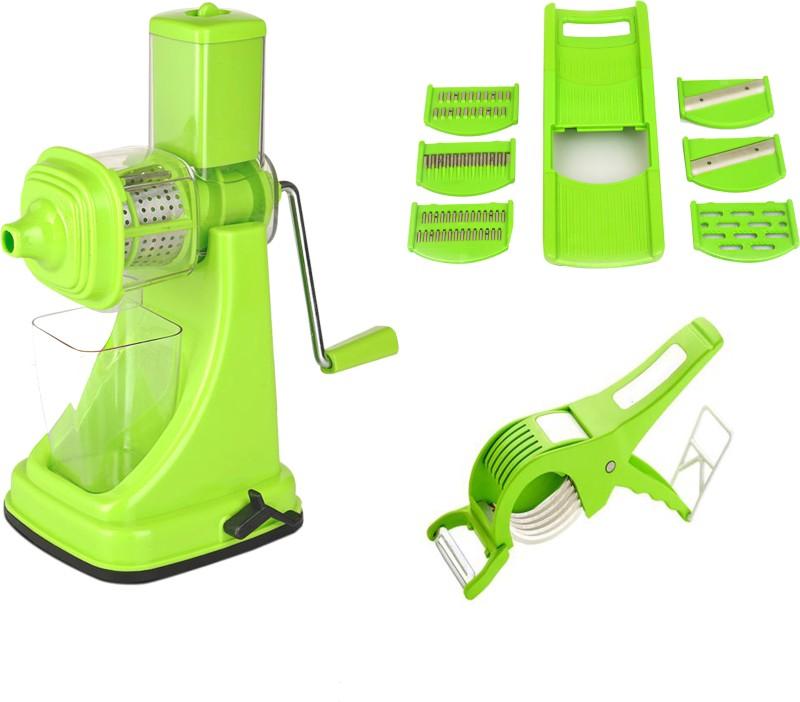 Magikware Juicer Combo With 6 In 1 Slicer + Veg Cutter Juicer Combo With 6 In 1 Slicer + Veg Cutter Kitchen Tool Set