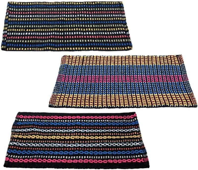 fashnoid Cotton Door Mat(Multicolor, Medium)