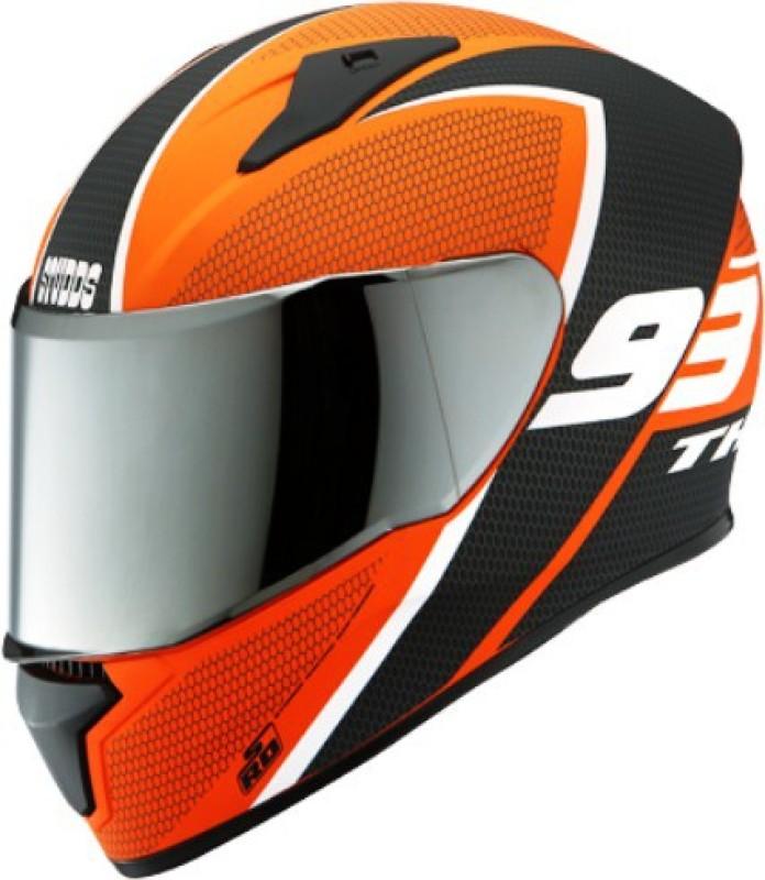 Studds D3 Motorbike Helmet(Matte Orange)
