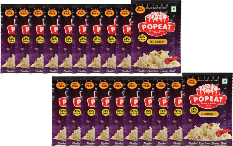 PopEat Desi Delight Desi Delight Popcorn(800 g, Pack of 20)